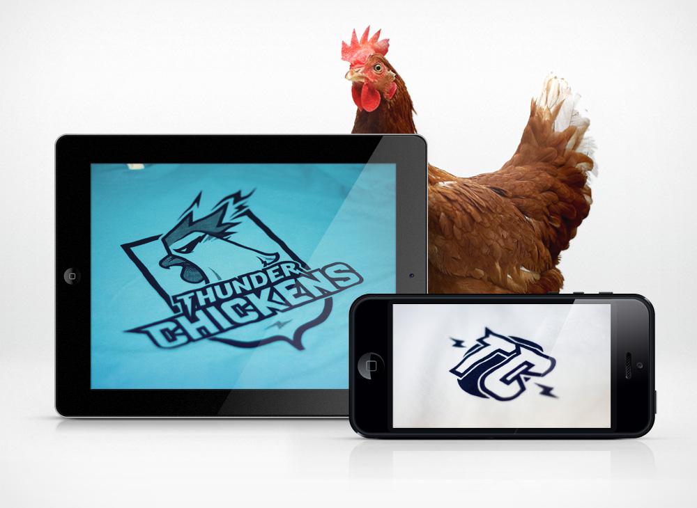 Thunder Chickens Logos