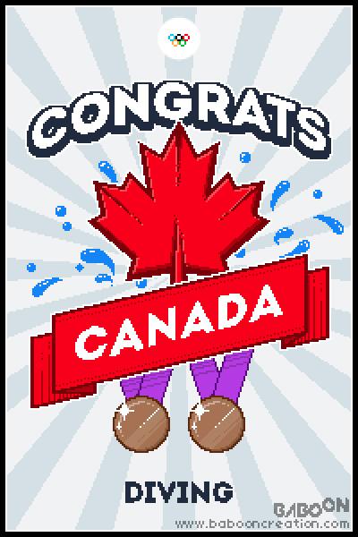 Olympixels - Canada Diving