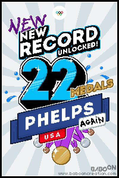 Olympixels - Phelps 22