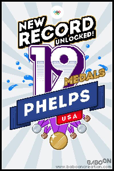 Olympixels - Phelps 19