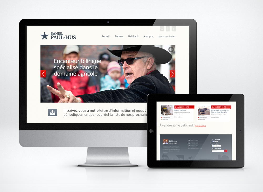 Daniel Paul-Hus Website design