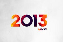 Wallpaper Baboon 2013 - blanc