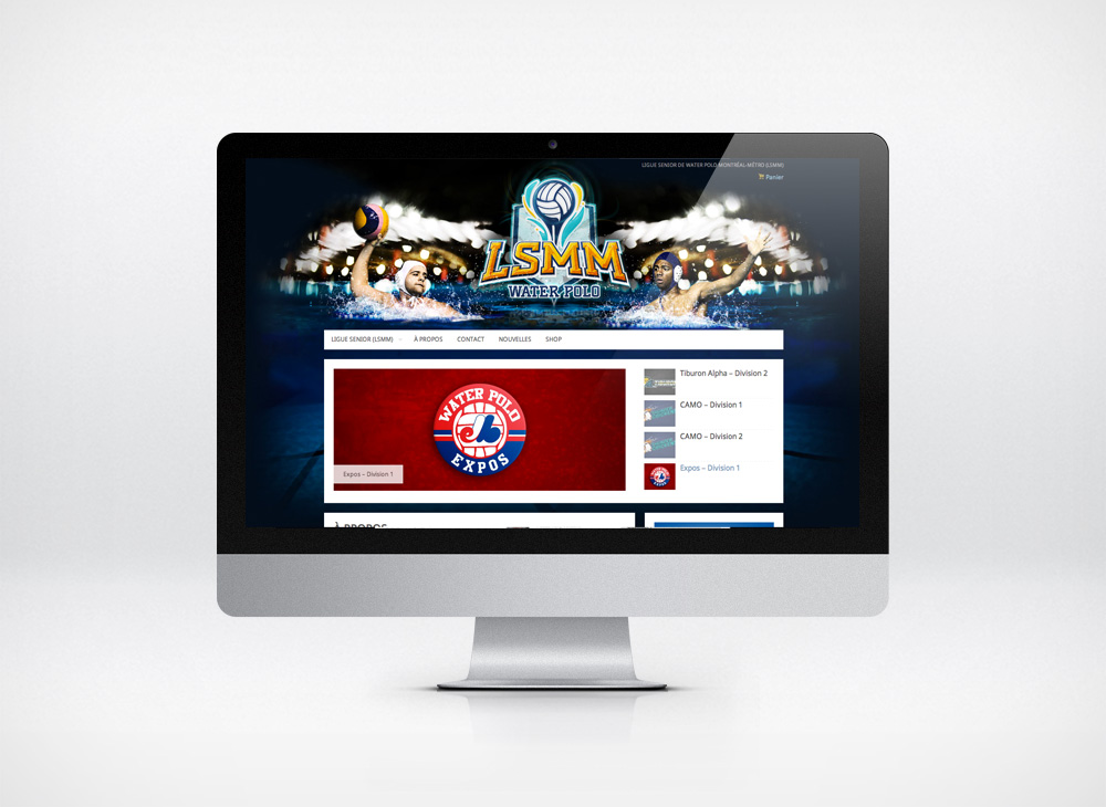 Website design LSMM Water polo