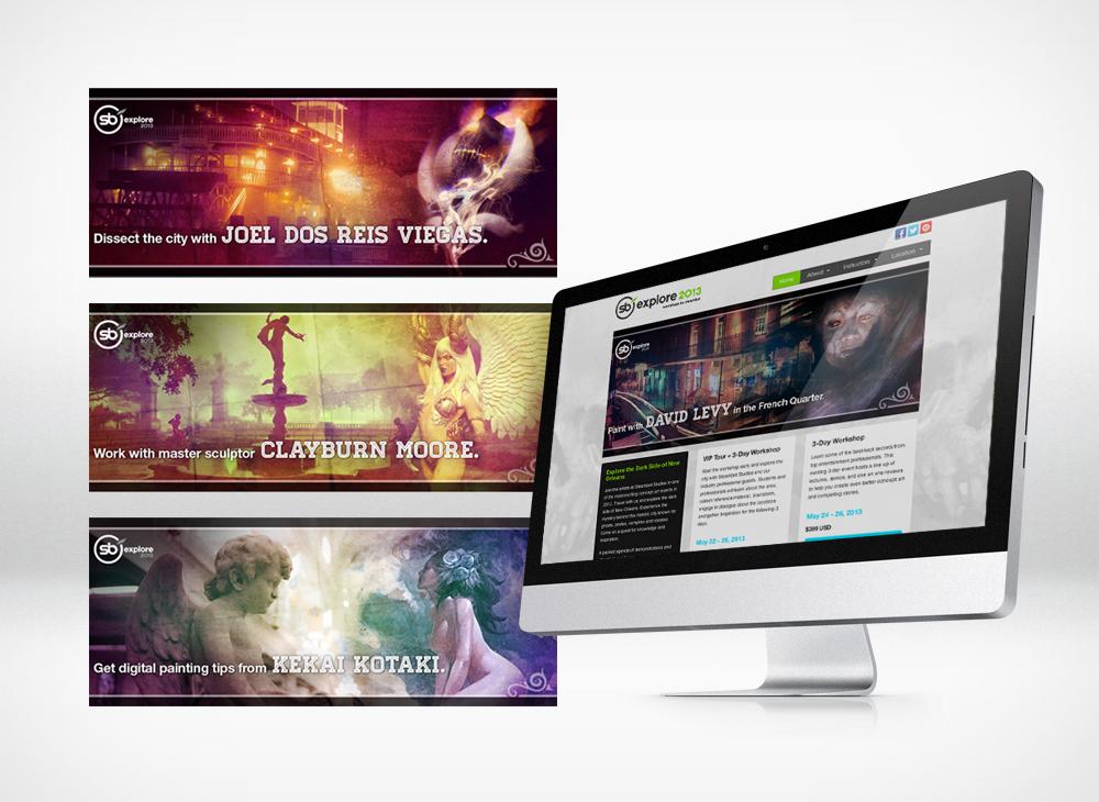 SB Explore website banners