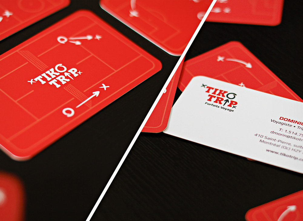Tikotrip business cards design