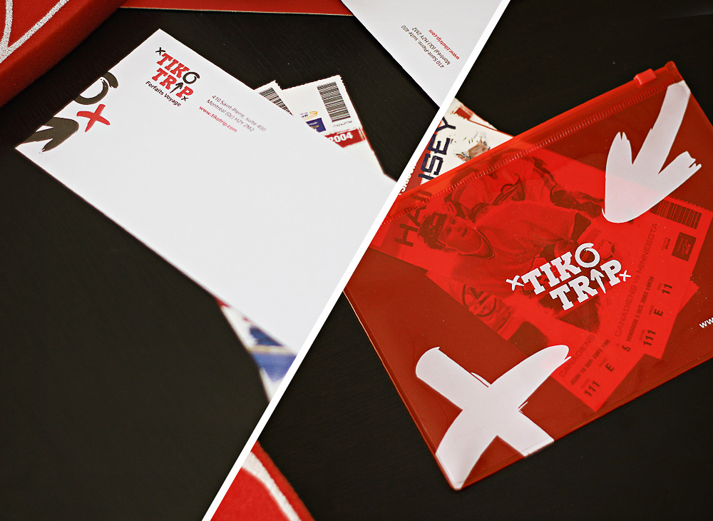 Tikotrip envelopes and packaging design