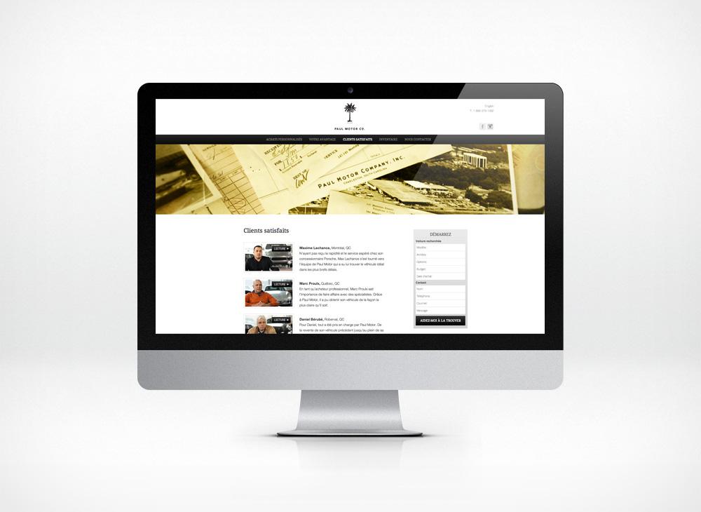 Paul Motor Company responsive website design