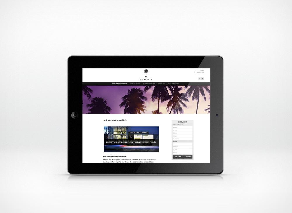 Paul Motor Company responsive website design 2