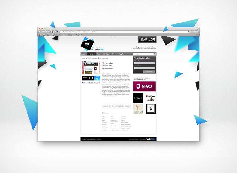 MIB Awards blog page