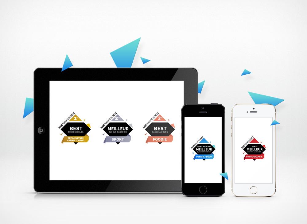 MIB awards badge design