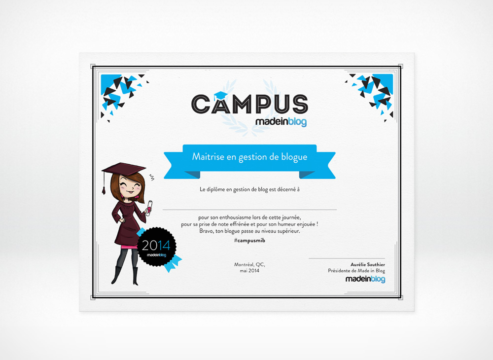 Certificate design for Campus MiB