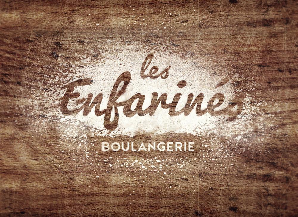 Logo design for Les Enfarinés