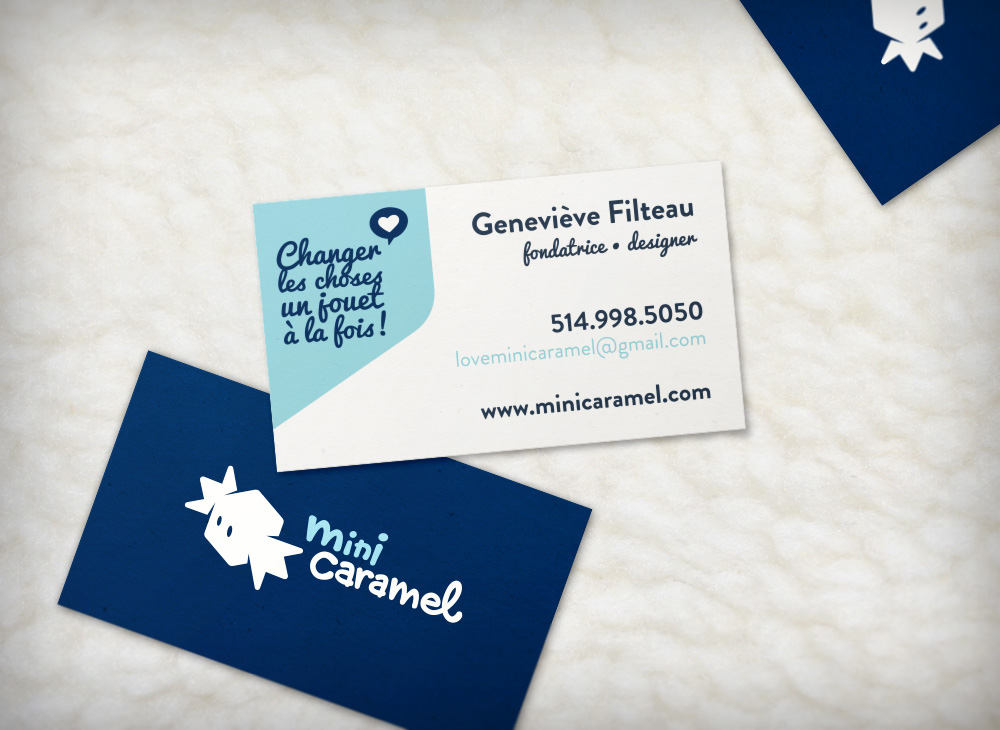 Mini Caramel Business cards design