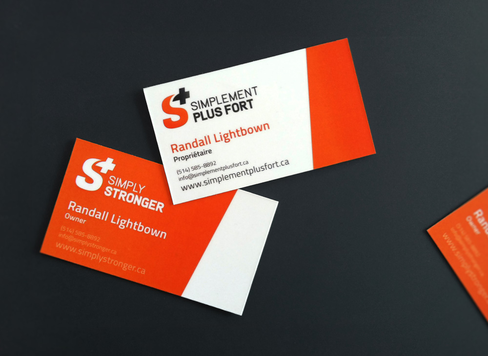 Business cards design for Simply Stronger