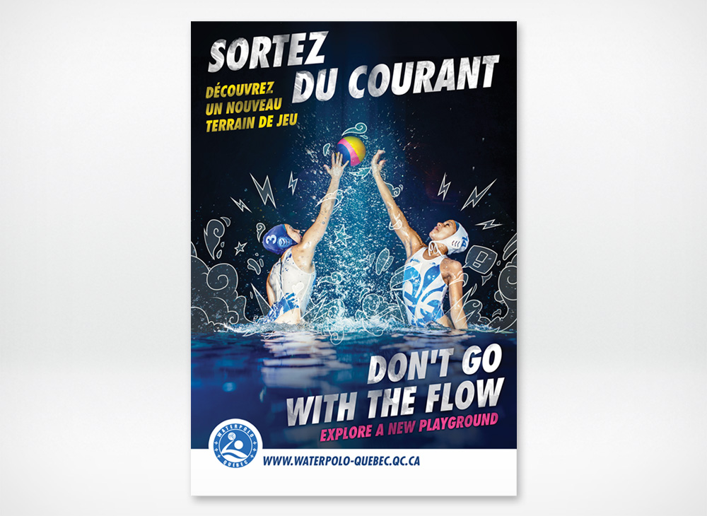 Poster design for Waterpolo Quebec